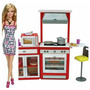 Combo Muñeca Barbie + Cocina Brittany + Accesorios