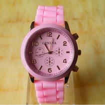 Relógio Fashion Rosa Importado Pronta Entrega No Brasil