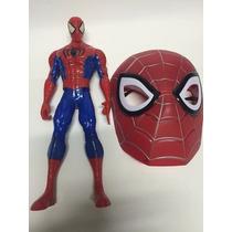 Boneco Homem Aranha Marvel Vingadores 30 Cm + Mascara Heróis