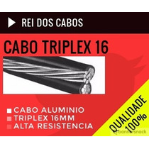 Fio Cabo Alumino Triplex 3 Vias 16mm Com Inmetro 100 Metros