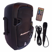 Altavoz Amplificado Audiobahn 8 + Microfono, Usb Bluetooth