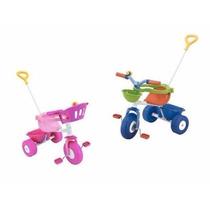 Triciclo Infantil Rondi D/ Metal C/ Barral Baul Porta Objeto