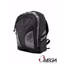 Bolso Morral Mochila Omega Lapto Portatil 15.6 Gris 658506