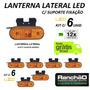 Lanterna Lateral Led Caminhão Carreta Reboque (kit 06 Unid)