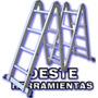 Escalera De Aluminio Articulada 4,7m Plegable Andamio Tijera
