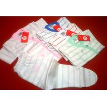 Conj Batita Y Osito- Pack X4 Unid- Jersey Rayado -big Bay