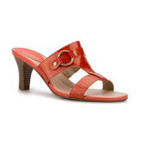 Sandalia Naranja Piel Natural Dama Andrea Tacon 7cm Descuent