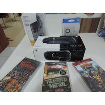 Sony Psp Desbloqueado Novo 3001 +cartão+35 Jogos+case+fone.