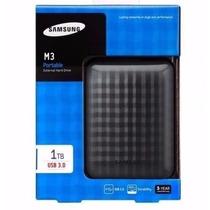 Hd Externo 1 Tera Samsung 1tb Usb3.0 M3 Lacrado 1000gb Bolso