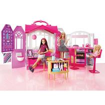 Casa Da Barbie Real Com Boneca Casinha Infantil Mattel