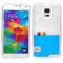 Funda 3d Liquida Con Color Y 2 Peces Galaxy S5