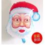 Balão Papai Noel Natal Cabeça 50 X 45 Cm. Envio Imediato
