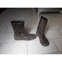 Botas De Gamuza Hush Puppies - N° 37 - Color Marron