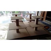 Candy Bar Torre Porta Cupcake 4 Pisos Fibro Facil Base 40 Cm