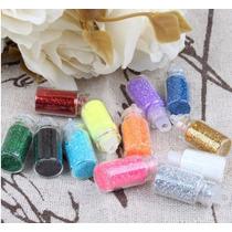 Pacote De Enfeite Para Unhas Glitter E Com Desenhos