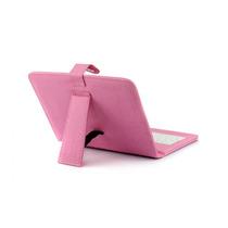 Funda Con Teclado Micro Usb Tablet 7 Estilo Piel Rosa