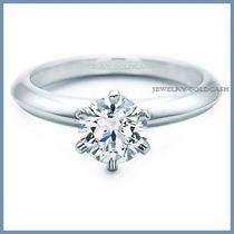 Anillo De Compromiso Diamante Natural .70ct En Platino -50%