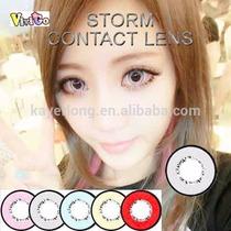 Circle Lenses- Lens Cinza Que Aumentam Os Olhos 18mm Cosplay