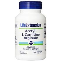 Life Extension Acetil L-carnitina Arginato 100 Cápsulas