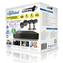 Kit Cámara Seguridad Logan 4 Canales 4 Cámaras Dvr 500 Gb