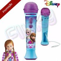 Microfone Mp3 100%original Frozen Ana E Elsa Disney Importad