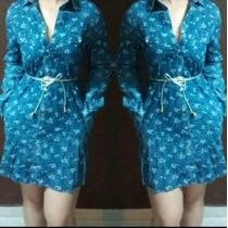 Vestido Curto Jeans Estampa Flor Feminino Moda Instagram