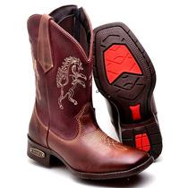 Bota Masculina Texana Infantil 5031 Pinhao-vinho