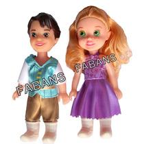 Muñeca Princesa + Principe Disney Rapunzel Ariel Juguete Niñ