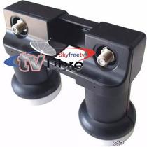 2 Lnb Ku Universal Corona + 2 Soportes+ Diseqc 4x1 Skyfreetv