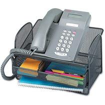 Safco Onyx En Ángulo Acoplamiento De Acero Teléfono Soporte