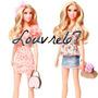 Juego Ropa Y Bolso Para Barbie Stardoll Vestuario Louvre67