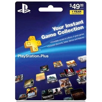 Tarjeta Gift Card Playstation Plus Americana 12 Meses Ps4