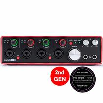 Focusrite Scarlett 18i8 2ª Geração Interface Áudio Usb. Loja