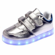Zapatos Tenis Led Luminosos Niño Niña Talla 19-22 Model 2017