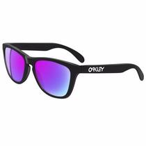 Gafas Oakley Frogskins Matte Black Violet Iridium Original!!