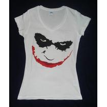 Blusa Camiseta Dark Knight Joker Face Guasón Batman Rostro