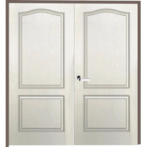 Puerta Doble Hoja Craftmaster Blanca Marco Madera 140x200 Cm
