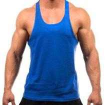 Camiseta Regata Cavada Lisa Musculação - Malha Pv - Cores