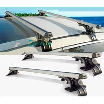 Barras Portaequipaje Universales Rack Aluminio Con 3 Ganchos