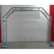 Porteria Estructura 20x20 1 1/5 Dj Luces Acero Galvanizado