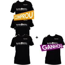 Camiseta Black Skull Compre 3 Leve 4 1 Camiseta Grátis!!!!!