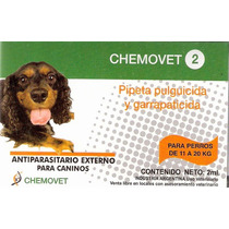 Pipeta Antipulgas Y Garrapatas Chemovet 2 (11 A 20 Kg) 10+2