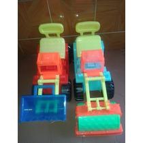 Carros Montables Para Niños Niñas Tractor Aplanadora Juguete