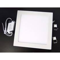 Luminária Plafon Led 24w Quadrado Embutir Teto Gesso Slim