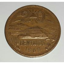 Moneda México 1969 20 Centavos *128
