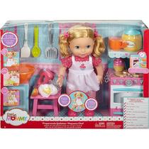 Boneca Little Mommy - Pequena Chef - Mexe Os Bracinhos - Mat