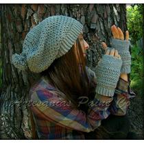 Conjunto Gorro + Mitones. Crochet!