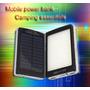 Power Bank Cargador Portatil Con Panel Solar+linterna 25000