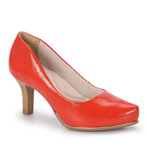 Sapato Scarpin Conforto Feminino Comfortflex - Vermelho