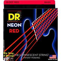 Encordoamento P/ Baixo De 5 Cordas Dr Neon - Vermelha .40